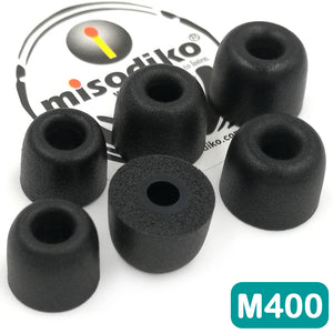 misodiko M400 Memory Foam Earbuds Tips - for RHA MA390 MA600 MA650 MA750 T10i T20i/ Sennheiser Momentum In Ear, CX 3.00 5.00i/ Denon AH-W150/ B&O Beoplay H3 H5 E4 E6/ SONY MDR XBA MDR-EX MDR-NC Series / Beats X- Replacement Earphones Eartips (3-Pairs)