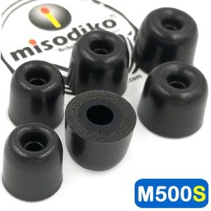 misodiko M500S Memory Foam Earbuds Tips - for Jaybird X4 X3 X2, Freedom 2 F5, BlueBuds X/ Sennheiser CX200 CX 300 II 275 475 IE60 MM30i / DUNU DN-2000/ ATH-IM70/ Skullcandy Ink'd Method Wireless/ Powerbeats - Replacement Earphones Eartips (3-Pairs)