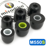 misodiko M550S Memory Foam Earbuds Tips - for Jaybird X4 X3 X2, BlueBuds X, Freedom F5/ 1MORE E1001 Triple Driver, E1010/ NuForce BE Sport3/ Photive PH-BTE50/ Plantronics BackBeat GO 3/ QCY QY7 QY8- Replacement In-Ear Headphoes Eartips (3-Pairs)