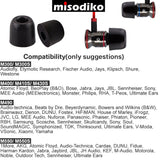 misodiko 4mm M400 3Pairs - Isolation Noise Cancelling Memory Foam Replacement In-Ear Earbud Earphone Earplugs for Headphones with 4.1mm-5mm Inner Ear Tips, Comfortable Secure Fit For Workouts