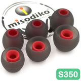 misodiko S350 Silicone Earbuds Tips - for SONY WF/WI SP600N SP700N SP900 1000X C400, MDR XB50BS XB50AP XB510AS EX10LP EX15AP EX15LP EX38iP EX100IP EX100AP/ Sennheiser Momentum In Ear, CX 880/ Beoplay E4 E6 E8 H3 H5- Replacement Earphoes Eartips (3-Pairs)