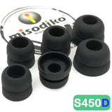 misodiko S450D Silicone Earbuds Tips - for Sennheiser  IE7 IE8 IE60 IE80 CX200 CX215 CX299 CX300 II CX310 CX350 CX400 CX500 CX550 CX95/ Skullcandy Smokin' Buds, Ink'd, Method Wireless/ KZ AS10 ZS10 ZST ZSN ZSR- Replacement Earphoes Eartips (3-Pairs)