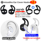 misodiko Accessories for Apple AirPods, Silicone Anti Lost Strap& Ear Skin Hooks Cover, Airpod Cable and Earhook Covers