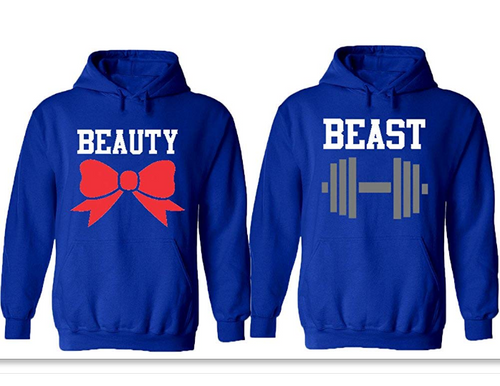 62a2b6f725 Handwrite King and Queen Couple Hoodies – Couple USA