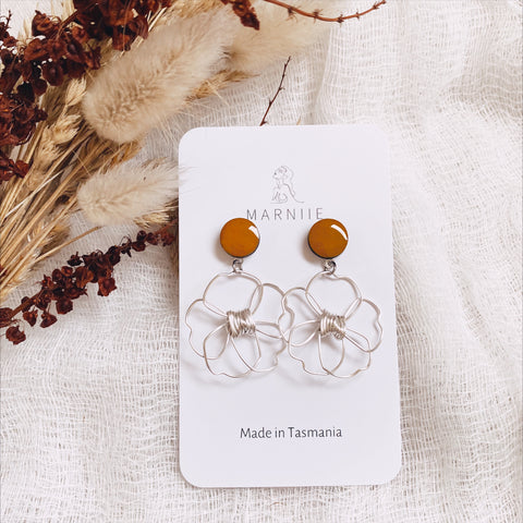 Daisy Pair MINI- Coloured Top - FLOWER CHILD Earrings *Muliti-Colour Options