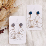 Upside Down Odd Pair MINI- Coloured Top - FLOWER CHILD Earrings *Muliti-Colour Options