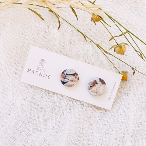 Black Marble - Wanderer Studs 14mm
