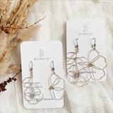 Long Stem Odd Pair - FLOWER CHILD Earrings - Ear Wire *Muliti-Colour Options