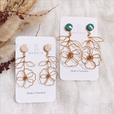 Long Stem Pair MINI- Coloured Top - FLOWER CHILD Earrings *Muliti-Colour Options