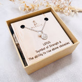 Lotus Charm & Pearl - Charm Necklace - Silver
