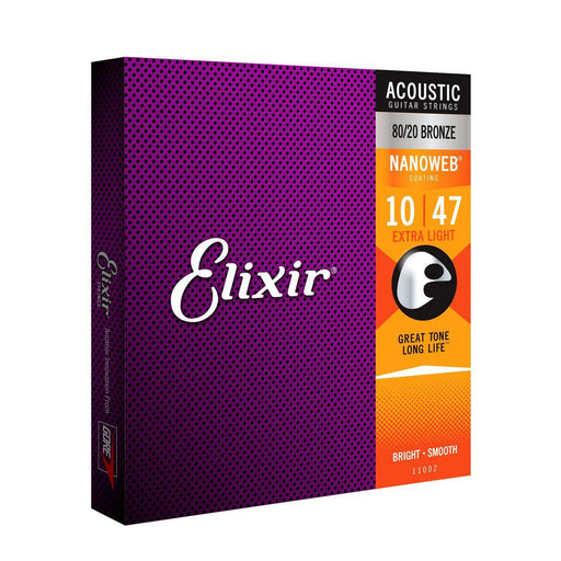 Elixir - ACOUSTIC 80/20 BRONZE WITH NANOWEB COATING