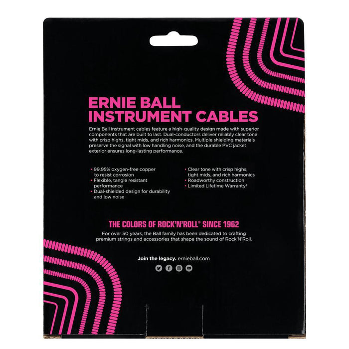 Ernie Ball 30' Coiled Instrument cable Straight/Straight