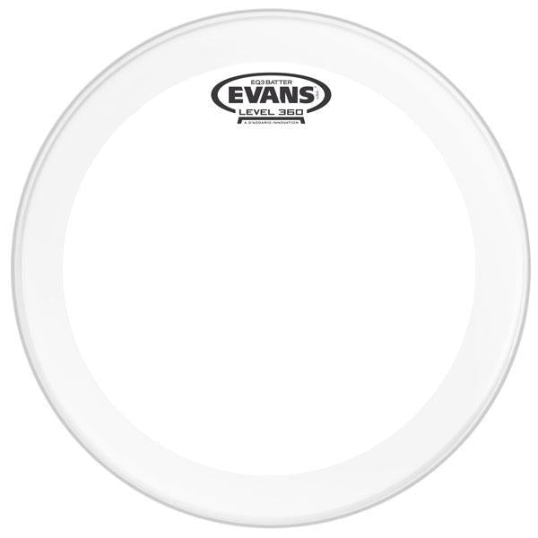 "Evans Drum head - 22"" EQ3 Clear Bass Drum Batter"