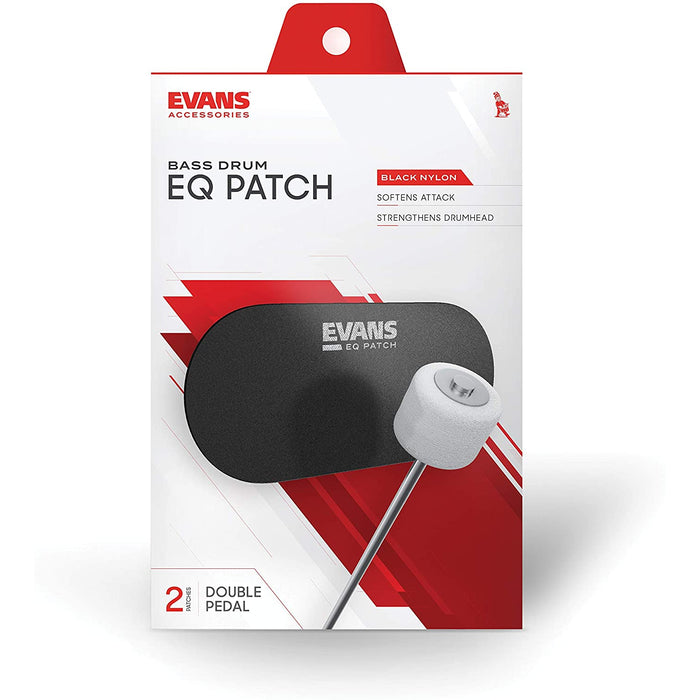 Evans Bass Drum Patch 2 Pedal Black Nylon