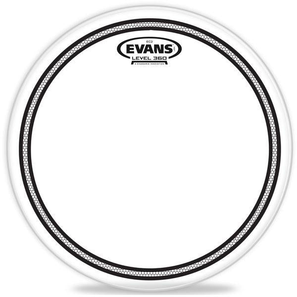 "Evans Drum head - 10"" EC2S Clear Tom Tom Batter with SST"