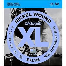 D'Addario EXL116 Nickel Wound Medium Top/Heavy Bottom 11-52