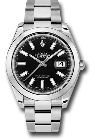 Rolex Oyster Perpetual Datejust II Mens Watch 116300 Black Index