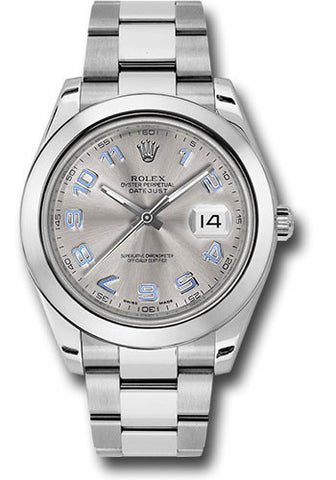 Rolex Oyster Perpetual Datejust II Mens Watch 116300 Rhodium Arabic