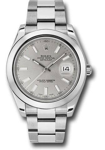 Rolex Oyster Perpetual Datejust II Mens Watch 116300 Silver Index