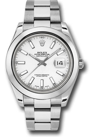 Rolex Oyster Perpetual Datejust II Mens Watch 116300 White Index