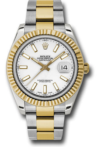 Rolex Oyster Perpetual Datejust II Mens Watch 116333 Ivory Index