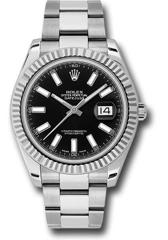 Rolex Oyster Perpetual Datejust II Mens Watch 116334 Black Index