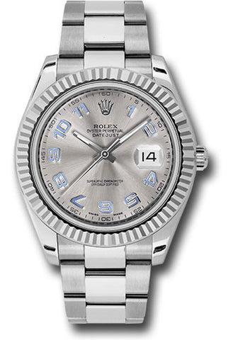 Rolex Oyster Perpetual Datejust II Mens Watch 116334 Rhodium Arabic