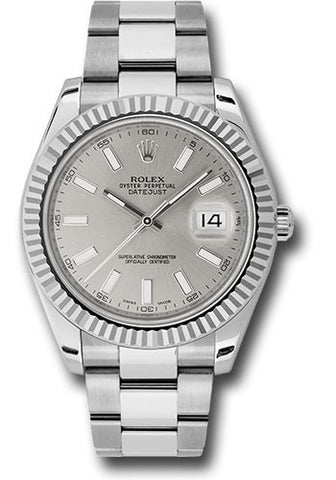Rolex Oyster Perpetual Datejust II Mens Watch 116334 Silver Index