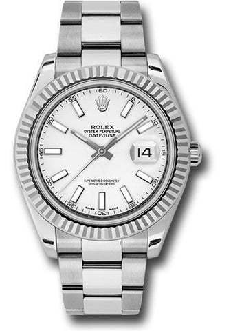 Rolex Oyster Perpetual Datejust II Mens Watch 116334 White Index