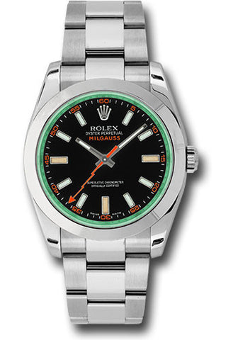 Rolex Milgauss 40mm Mens Watch 116400gv Black Green