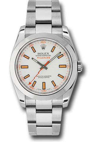 Rolex Milgauss 40mm Mens Watch 116400 White