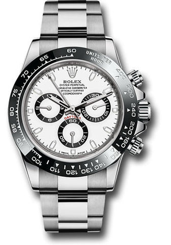 Rolex Cosmograph Daytona Stainless Steel Mens Watch 116500LN White