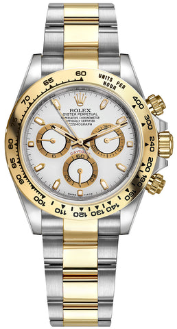Rolex Cosmograph Daytona Steel and Gold Mens Watch 116503 White Index Oyster