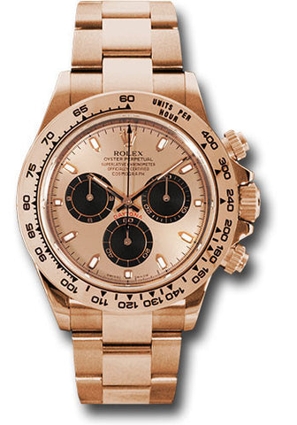 Rolex Cosmograph Daytona Everose Gold Mens Watch 116505 Pink and Black Index