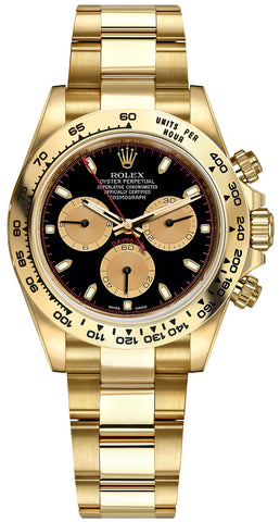 Rolex Cosmograph Daytona Yellow Gold Mens Watch 116508 Black Index Oyster