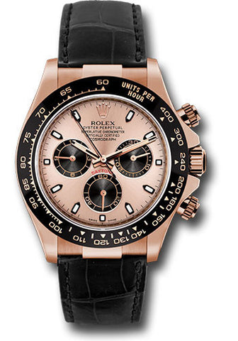 Rolex Cosmograph Daytona Everose Gold Mens Watch 116515LN Pink and Black Index