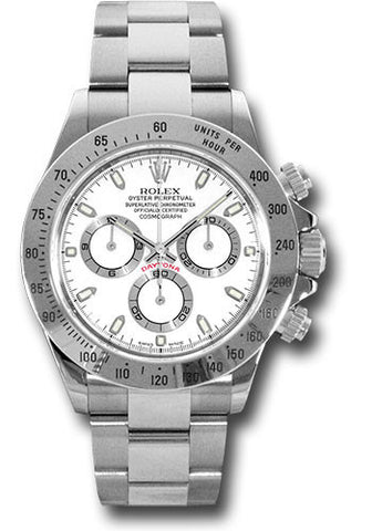 Rolex Cosmograph Daytona Stainless Steel Mens Watch 116520 White