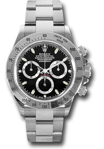 Rolex Cosmograph Daytona Stainless Steel Mens Watch 116520 Black