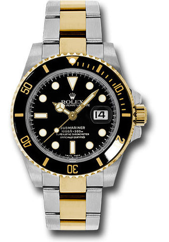 Rolex Oyster Perpetual Black Submariner Date Mens Watch 116613