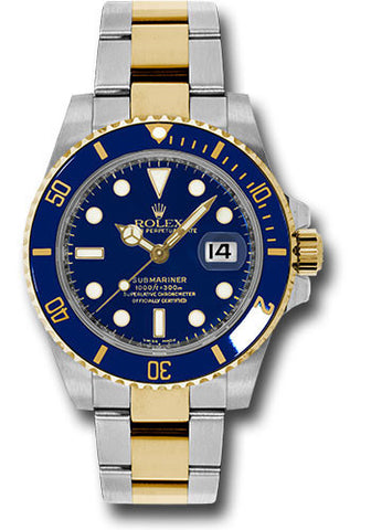 Rolex Oyster Perpetual Blue Submariner Date Mens Watch 116613