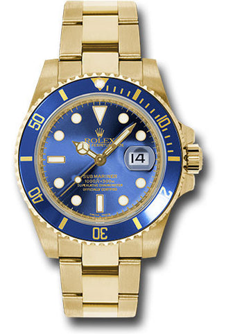 Rolex Oyster Perpetual Blue Submariner Date Mens Watch 116618