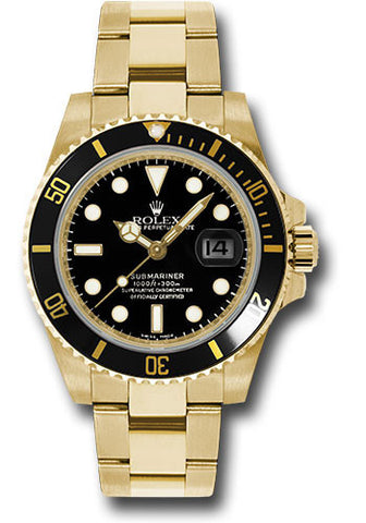 Rolex Oyster Perpetual Black Submariner Date Mens Watch 116618