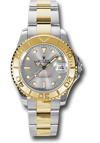 Rolex Yacht-Master 35mm Ladies Watch 168623 Platinum Dial