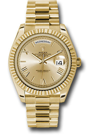 Rolex Day-Date 40mm Yellow Gold Mens Watch 228238 Champagne Roman