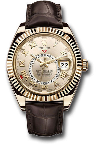 Rolex Sky Dweller 42mm Mens Watch 326138 Silver Roman