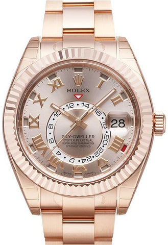 Rolex Sky Dweller 42mm Mens Watch 326935 Sundust Roman