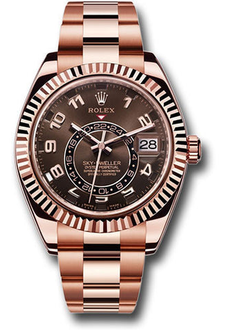 Rolex Sky Dweller 42mm Mens Watch 326935 Chocolate Arabic