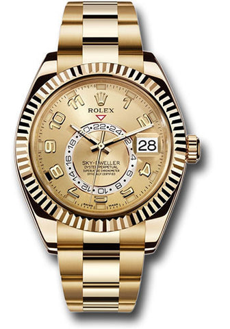 Rolex Sky Dweller 42mm Mens Watch 326938 Champagne Arabic