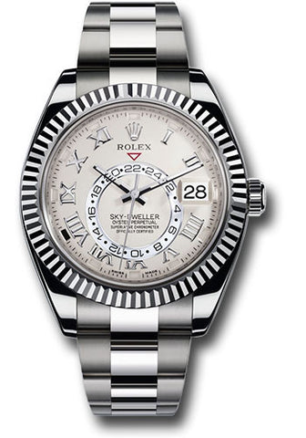 Rolex Sky Dweller 42mm Mens Watch 326939 Ivory Roman