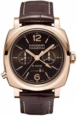 Panerai Radiomir 1940 Chrono Monopulsante 8 Days GMT Oro Rosso Limited Edition of 300 PAM00502